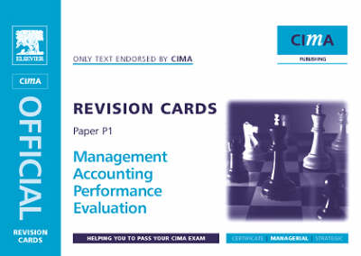 Performance Evaluation: Managerial Level Paper P1 - CIMA Revision Cards (Spiral bound)