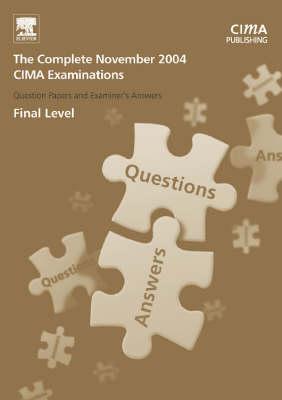 The Complete Set - Final Level - CIMA November 2004 Q&As (Paperback)