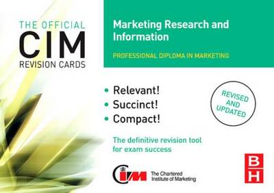 CIM Revision Cards Marketing Research and Information (Hardback)