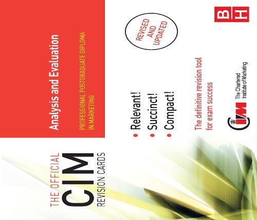 CIM Revision Cards Analysis and Evaluation (Hardback)