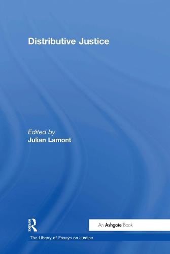 Distributive Justice - The Library of Essays on Justice (Hardback)