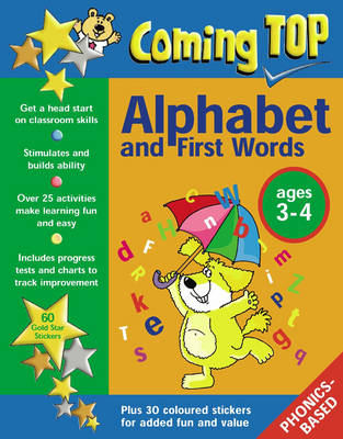 Coming Top: Sticker Books: Alphabet and First Words Ages 3-4 (Paperback)