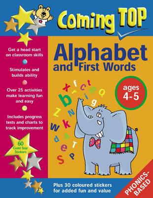 Coming Top: Sticker Books: Alphabet and First Words Ages 4-5 (Paperback)