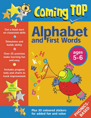 Coming Top: Sticker Books: Alphabet and First Words for Ages 5-6 (Paperback)