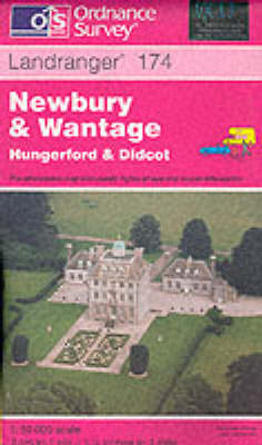 Newbury and Wantage, Hungerford and Didcot - Landranger Maps Sheet 174 (Sheet map, folded)