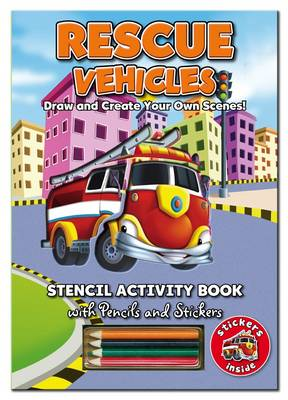 Stencil Activity Book - Rescue Vehicles - Stencil Activity Book