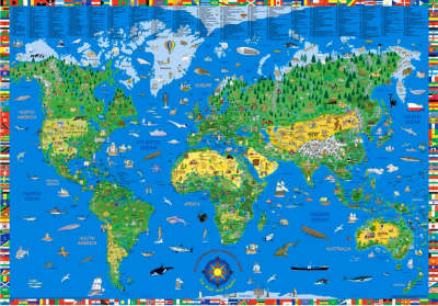 World kids illustrated wall map 2012 (Sheet map, rolled)