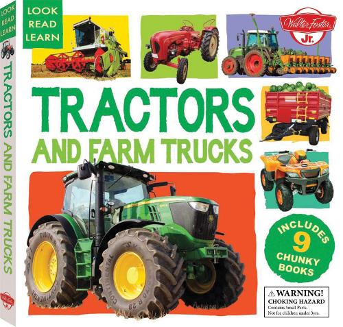 Tractors and Farm Trucks: Includes 9 Chunky Books - Look, Read, Learn (Hardback)