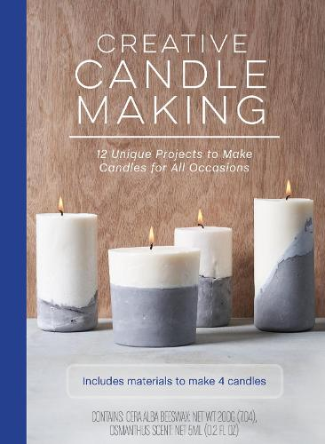 Creative Candle Making: 12 Unique Projects to Make Candles for All Occasions - Includes Materials to Make 4 Candles