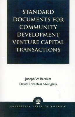 Standard Documents for Community Development Venture Capital Transactions (Paperback)