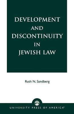 Development and Discontinuity in Jewish Law (Paperback)