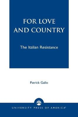 For Love and Country: The Italian Resistance (Paperback)