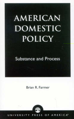 American Domestic Policy (Paperback)