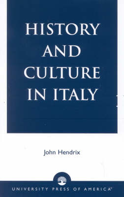 History and Culture in Italy (Paperback)