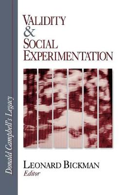 Validity and Social Experimentation: Donald Campbell's Legacy (Hardback)