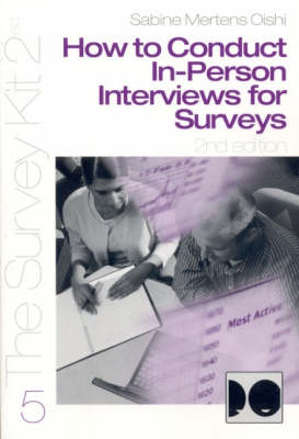 How to Conduct In-Person Interviews for Surveys (Paperback)