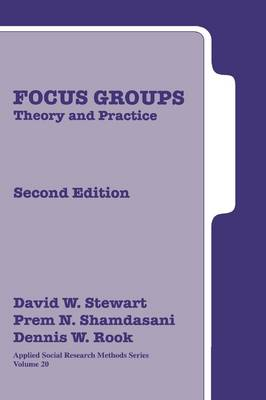 Focus Groups: Theory and Practice - Applied Social Research Methods (Hardback)