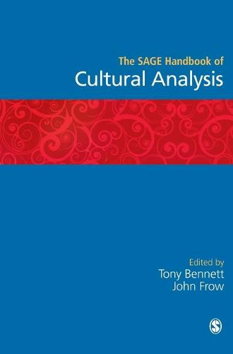 The SAGE Handbook of Cultural Analysis (Hardback)