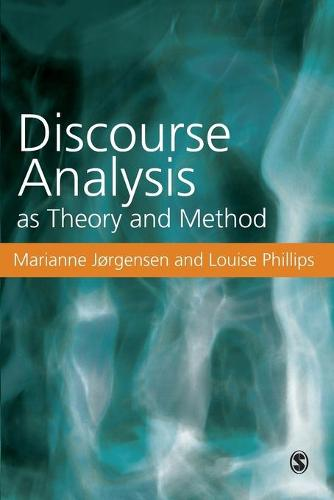 Discourse Analysis as Theory and Method (Paperback)