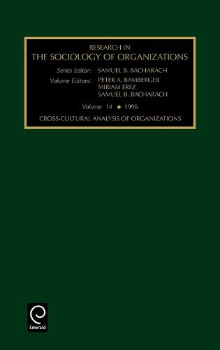 Cross-cultural Analysis of Organizations - Research in the Sociology of Organizations 14 (Hardback)