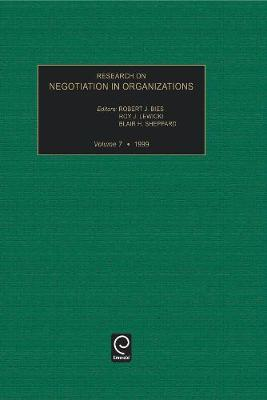 Research on Negotiation in Organizations - Research on Negotiation in Organizations 5 (Hardback)