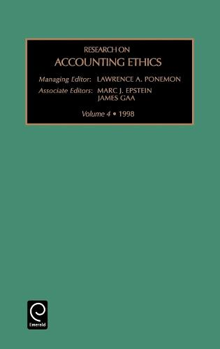 Research on Accounting Ethics - Research on Accounting Ethics 4 (Hardback)