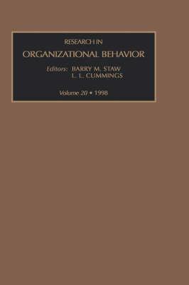 Research in Organizational Behavior: Volume 20 - Research in Organizational Behavior (Hardback)