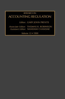Research in Accounting Regulation: Volume 13 - Research in Accounting Regulation (Hardback)