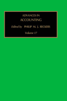 Advances in Accounting: Volume 17 - Advances in Accounting (Hardback)