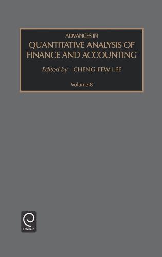 Advances in Quantitative Analysis of Finance and Accounting - Advances in Quantitative Analysis of Finance and Accounting 8 (Hardback)