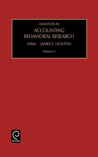 Advances in Accounting Behavioral Research - Advances in Accounting Behavioral Research 3 (Hardback)