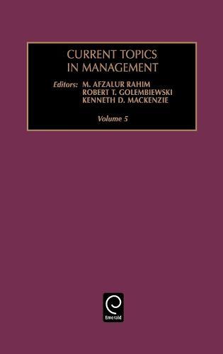 Current Topics in Management - Current Topics in Management 5 (Hardback)