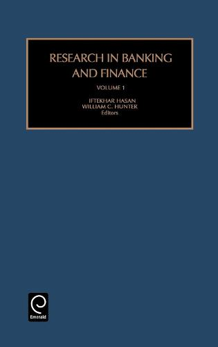 Research in Banking and Finance - Research in Banking and Finance 1 (Hardback)