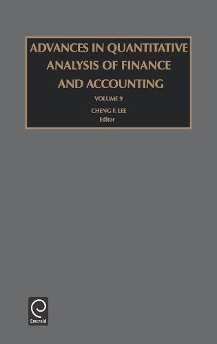 Advances in Quantitative Analysis of Finance and Accounting - Advances in Quantitative Analysis of Finance and Accounting 9 (Hardback)
