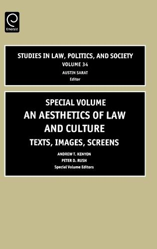Aesthetics of Law and Culture: Texts, Images, Screens - Studies in Law, Politics, and Society 34 (Hardback)