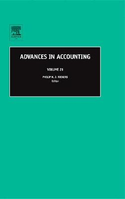 Advances in Accounting: Volume 21 - Advances in Accounting (Hardback)