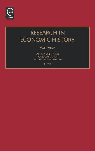 Research in Economic History - Research in Economic History 24 (Hardback)