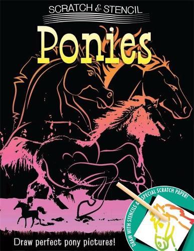 Scratch & Stencil: Ponies (Paperback)