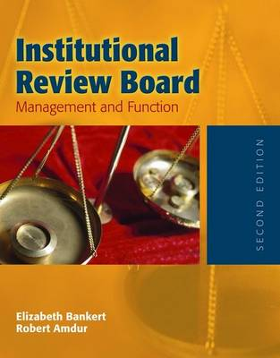 Institutional Review Board: Management And Function (Paperback)