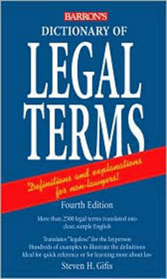 Dictionary of Legal Terms (Paperback)