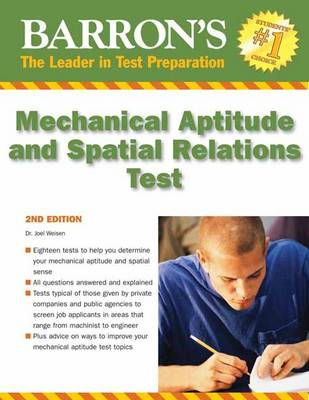 Mechanical Aptitude and Spatial Relations Tests (Paperback)