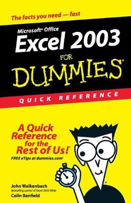 Excel 2003 For Dummies Quick Reference (Paperback)