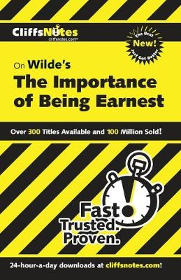 CliffsNotes on Wilde's The Importance of Being Earnest (Paperback)