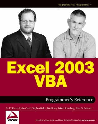 Excel 2003 VBA Programmer's Reference (Paperback)
