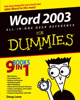 Word 2003 All-in-One Desk Reference for Dummies (Paperback)