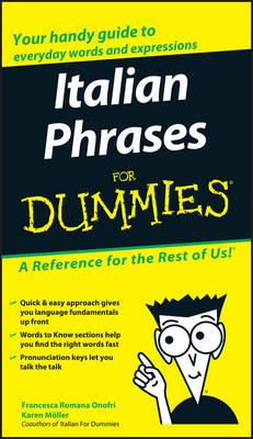 Italian Phrases For Dummies (Paperback)