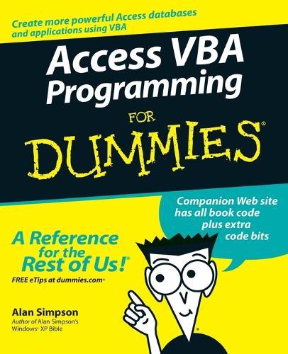 Access VBA Programming For Dummies (Paperback)
