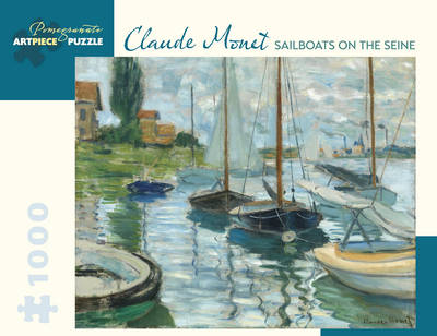 Claude Monet Sailboats on the Seine 1000 Piece Jigsaw Puzzle (Jigsaw)