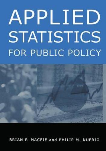 Applied Statistics for Public Policy (Hardback)
