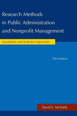 Research Methods in Public Administration and Nonprofit Management (Hardback)